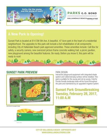 Parks General Obligation Bond February Update