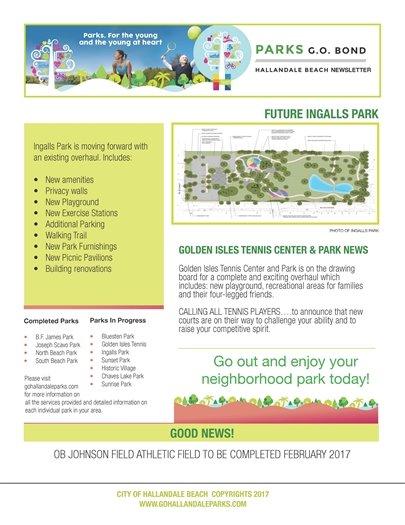 Parks General Obligation Bond February Update, page 2