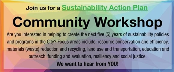 Community Workshop - November 18, 9:30am-11:30am