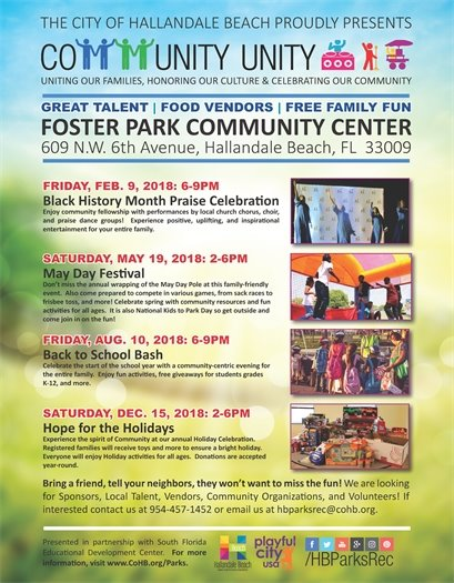 Don't miss the annual wrapping of the May Day Pole at this family-friendly event on Saturday May 19th from 2-6PM at Foster Park, 609 NW 6th Avenue. Celebrate spring with community resources and fun activities for all ages. Also come prepared to compete in various games, from sack races to frisbee toss, and more. It is also National Kids to Park Day so get outside and come join in on the fun!
