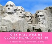 City Hall will be closed